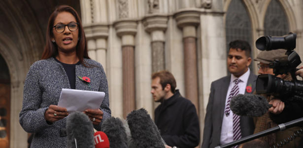 Gina Miller outside court